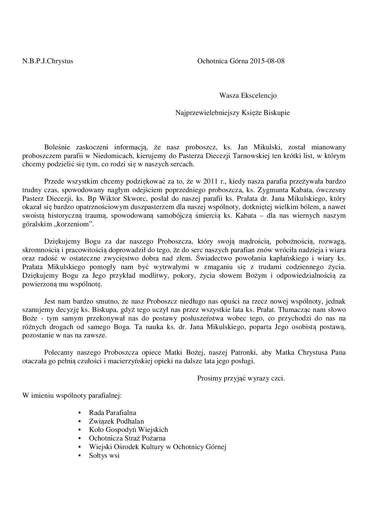 Pożegnanie Ks Dr Jana Mikulskiego Wiejski Ośrodek